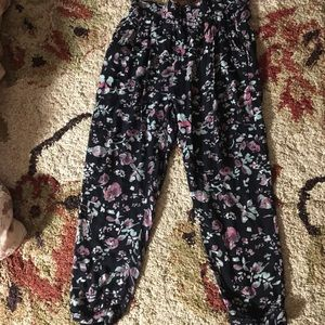 Urban Outfitters loose boho rose print pants